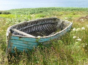 CST 21C Boat in the Machair -  Hebrides