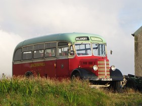 HER 06C Balamory Bus - Parked up in South Uist, Hebrides